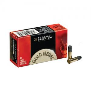 Federal Gold Medal .22LR 40GR Solid Point 50Rds GM719