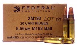 Federal FED XM193BK 5.56 Bulk Case of 1000RD XM193BK 029465060713