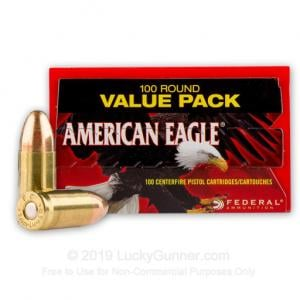 9mm - 115 Grain FMJ - Federal American Eagle - 500 Rounds 029465062472