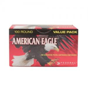 Federal American Eagle 115 Grain FMJ Brass 9mm 100Rds AE9DP100