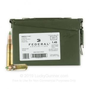 5.56x45 - 62 gr FMJ XM855 - Stripper Clips in Ammo Can - Federal - 420 Rounds 029465063189