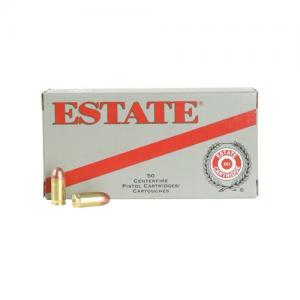 Estate Range & Target 9mm 115GR FMJ 50Rds ESH9115