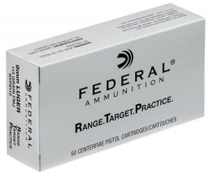 Federal Range and Target Ammo 9mm 115GR 50 Box / 20 Case RTP9115