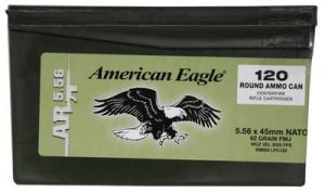 Federal American Eagle Mini Ammo Can 5.56 NATO 62GR 600Rd Case XM855LCP120