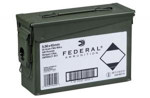 FEDERAL AMMUNITION XM193 5.56 55gr FMJ with Ammo Can 420 Rounds 029465065206