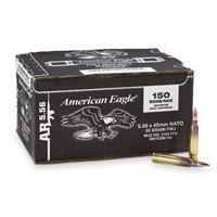 Federal American Eagle, .223 (5.56x45mm), FMJ, 55 Grain, 150 Rounds XM193BK150