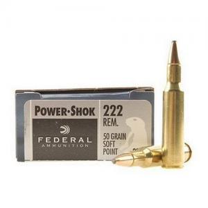 Federal PowerShok .222 Rem 50GR SP 20rds 222A