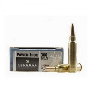 Federal PWRSHK 300SAV 150GR SP 20rds 300A