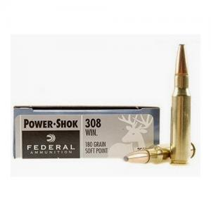 Federal Power-Shok .308Win 180GR SP 20Rds 308B