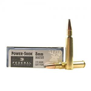 Federal PWRSHK 8MM MAU 170GR SP 20rds 8A