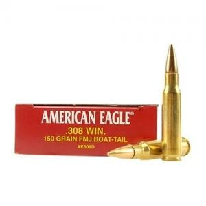 Federal American Eagle .308 Win 150GR FMJ 20rds AE308D