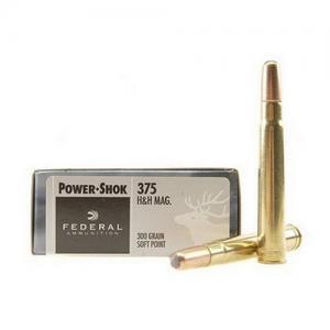 Federal PWRSHK 375H&H 300GR SP 20rds 375B