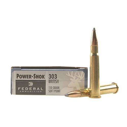 Federal PWRSHK 303BRIT 150GR SP 20rds 303B