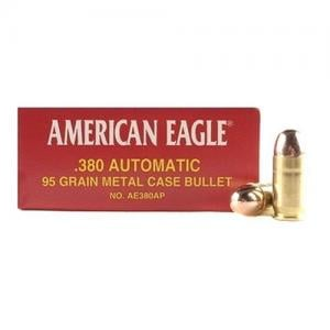 Federal AM Eagle 380 ACP 95GR FMJ 50rds AE380AP