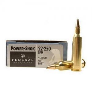 Federal PWRSHK 22-250REM 55GR SP 20rds 22250A