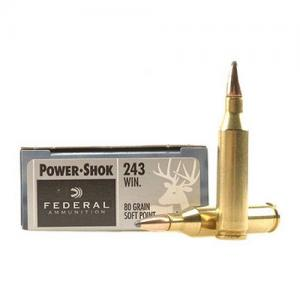 Federal PWRSHK 243WIN 80GR Sierra 20rds 243AS