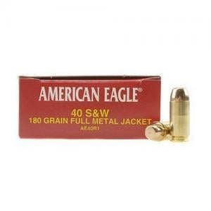 Federal AM Eagle 40SW 180GR FMJ 50rds AE40R1