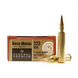Federal Gold Medal .223 Rem 77GR BTHP 20Rds GM223M3