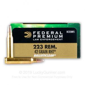 223 Rem - 42 gr Frangible - Federal - 20 Rounds BC223NT5