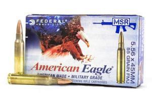 FEDERAL AMMUNITION XM193 5.56mm 55 gr MC-BT 500 Rounds 029465094602