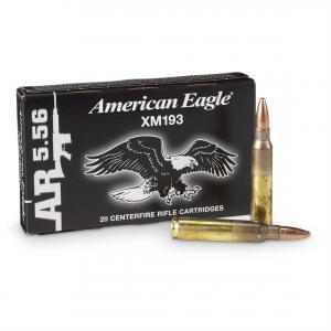 Federal American Eagle XM193 5.56 NATO 55GR FMJ Rifle Ammo 20Rds XM193