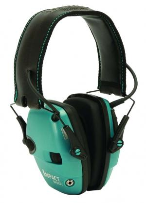 Howard Leight R02521 IMPACT SPORT TEAL Electronic Hearing Protection R02521