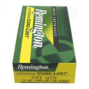Remington Express CORE-LOKT .243WIN 100GR Pointed Soft Point 20Rds R243W3