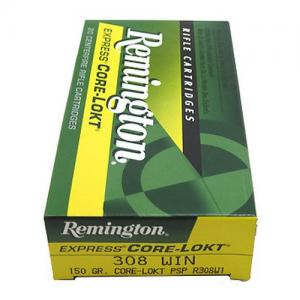 Remington Express Core-Lokt .308Win 150GR Pointed Soft Point 20rds R308W1