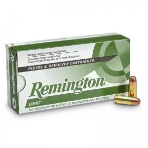 Remington UMC 9mm Handgun Ammunition 115GR FMJ 50Rds 23728