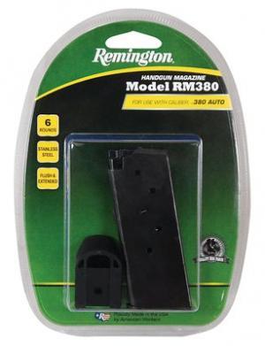 Remington RM380 w/ Finger Extension magazine Black .380 ACP 6Rds 17679