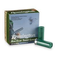 "Remington, Gun Club Target Loads, 12 Gauge, 2 3/4"" Shells, 1 1/8 oz., 25 Rounds GC128"