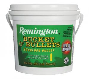 Remington Golden Bullets HV .22LR 36GR Plated HP 1400Rds 047700415212