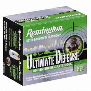 Remington Ammunition Ultimate Defense Brass Jacketed Hollow Point 230 Grain Nickel Plated Brass .45 ACP 20Rds HD45APB