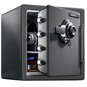 SentrySafe SFW123DSB Fireproof Safe and Waterproof Safe with Dial Combination 1.23 Cubic Feet Gray SFW123DSB