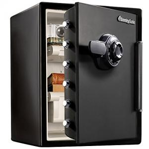 SentrySafe SFW205CWB Fireproof Waterproof Safe with Dial Combination, 2.05 Cubic Feet, Black SFW205CWB