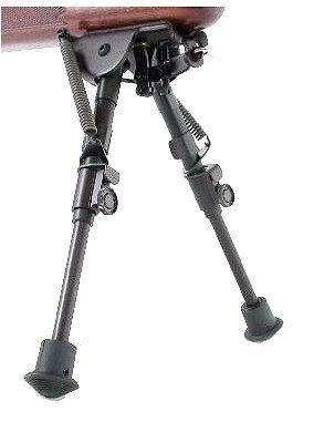 Harris Engineering BR Bench Rest, Solid 1A2 Base 6-9in Bipod, Black BR1A2 1A2BR