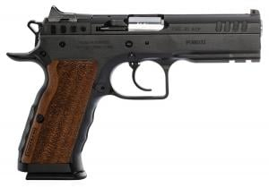 "IFG/FT Italia Stock I Semi Auto Pistol .45 ACP 4.45"" Barrel 10 Rounds Fixed Sights Picatinny Accessory Rail Wood Grip Matte Black Finish 051770130024"