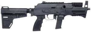 "Charles Daly AK-9 9mm Luger Semi Auto Pistol 6.3"" Barrel 10 Rounds Polymer Handguard Steel Construction Black 440.087"