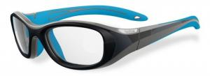Bolle Kids Crunch Sport Protective Eyewear - Grey and Blue Frame,Clear Anti Fog/Scratch Lens 12001 054917308315