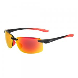 Bolle Flyair 64mm Wrap-Around TNS Sport Sunglasses (Matte Black) 054917340001