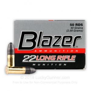 22 LR - 40 gr LRN - CCI Blazer - 5000 Rounds 076683000214