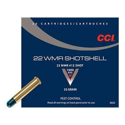CCI/Speer CCI Shotshell 22WMR 52 Grain Shotshell #12 20/BX 2000/CS 25