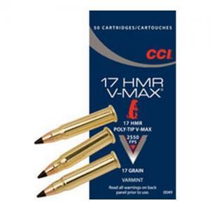 CCI V-Max .17HMR 17GR V-MAX 50rds 49