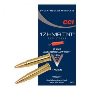 CCI TNT .17HMR 17GR JHP 50Rds 53