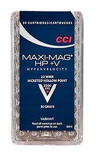 CCI Maxi-Mag .22WMR 30GR Hypervelocity HP 50rds 59