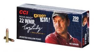 CCI Ammunition Troy Landry Maxi-Mag 40 Grain JHP Brass .22 Mag 200Rds 958