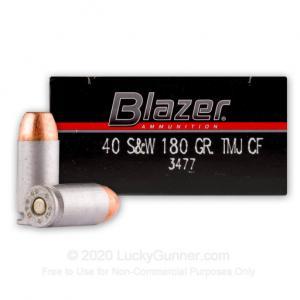 40 S&W - 180 gr TMJ Cleanfire - Blazer - 1000 Rounds 076683034776