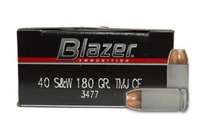 CCI AMMUNITION 40SW 180 gr TMJ Cleanfire Trade Ammo 50/Box 3477