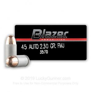 45 ACP - 230 Grain FMJ - Blazer - 1000 Rounds 3570