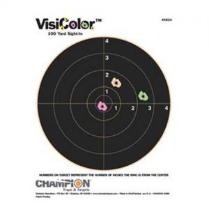 Champion Targets Visicolor 8 inch Bullseye 10pk 45824